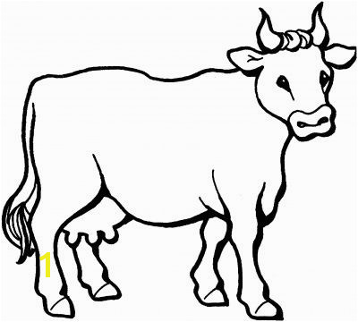 Farm Craft Cow Coloring Page