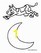 Cow Jumped Over the Moon coloring page