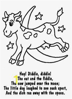 hey diddle diddle coloring pages Google Search Free Nursery Rhymes Nursery Rhymes Lyrics