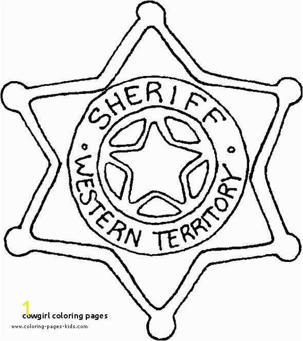Cowgirl Coloring Pages Sheriff Coloring Page Party Cowgirl Pinterest