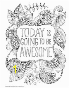 Today is going to be awesome Creative Coloring Inspirations Printable colouring page Adult Colouring In