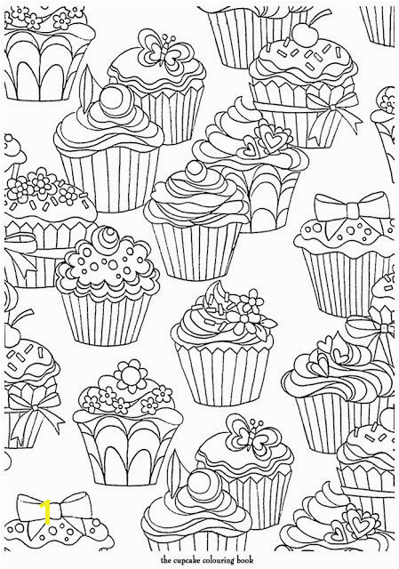 Cupcake Coloring Pages to Print Cupcakes Pattern Free Printable Adult Coloring Pages