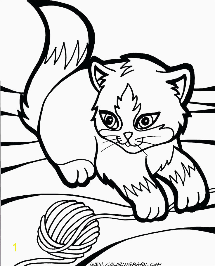 Printable Coloring Sheets Cats Beautiful Cute Kitty Cat Coloring Pages Best Kindergarten Printable