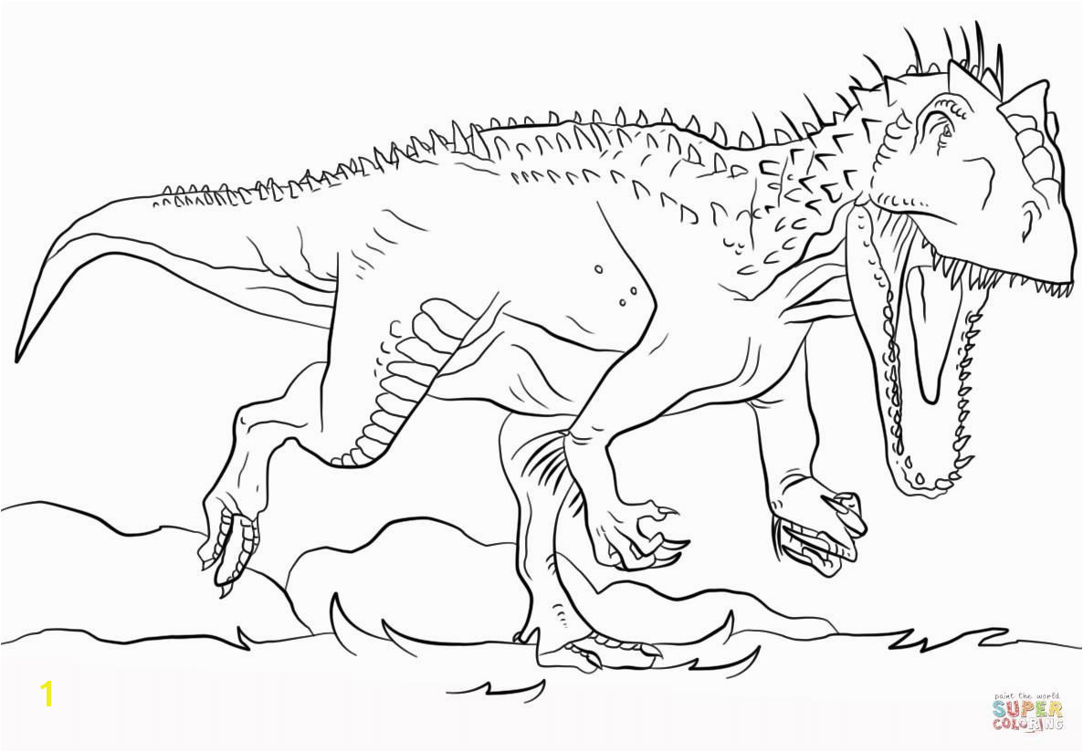 Jurassic World Coloring Pages World Indominus Rex Coloring Pages Coloring Pages 13i