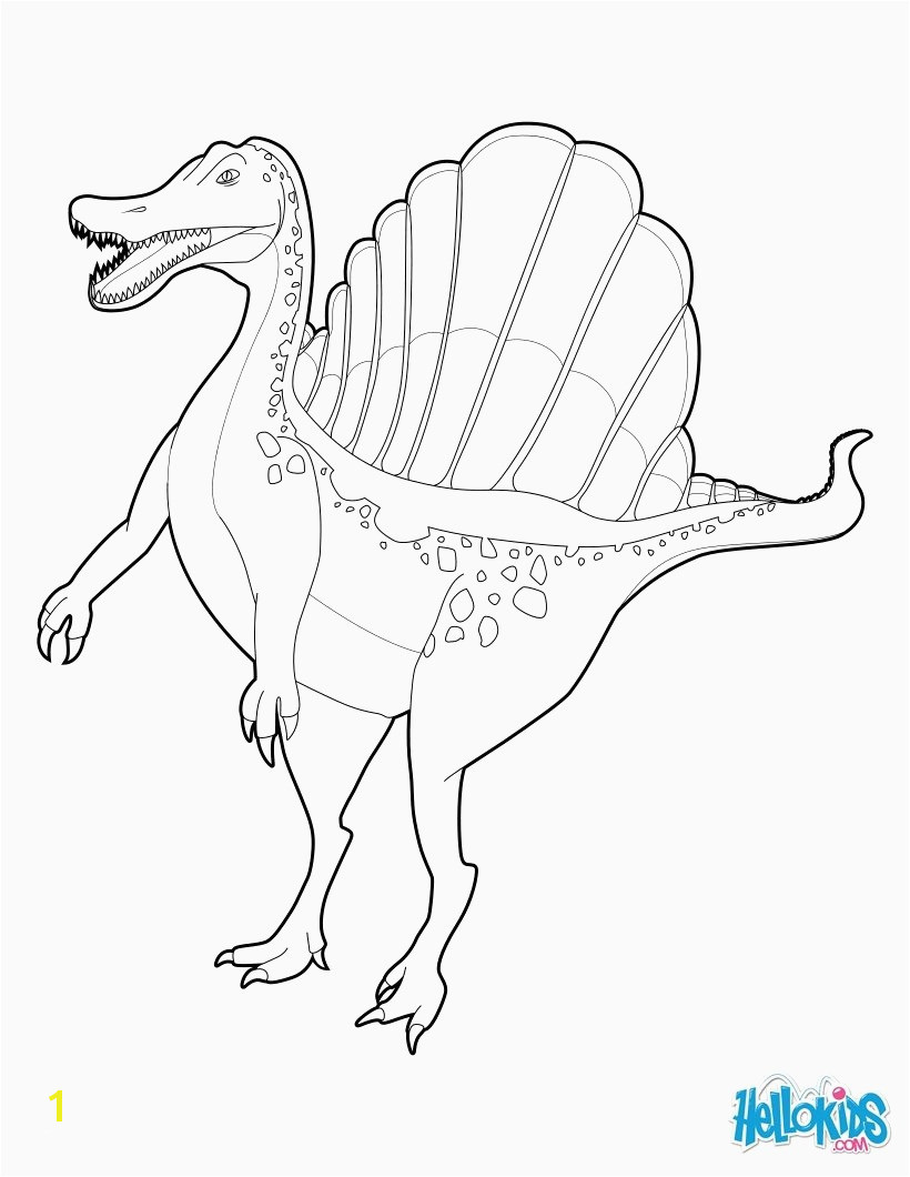 Jurassic World Coloring Pages Tyrannosaurus Rex Coloring Luxury Spinosaurus Coloring Pages Hellokidss with Page Image