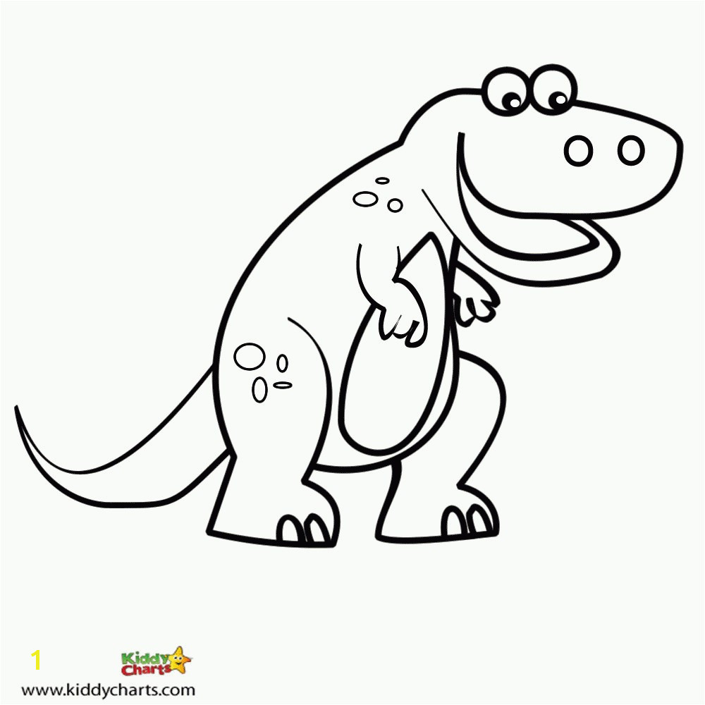 Cute T rex Coloring Page Kids Coloring