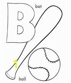 B For Baseball Coloring Pages baseball coloring grizzlie Baseball Coloring Pages Abc