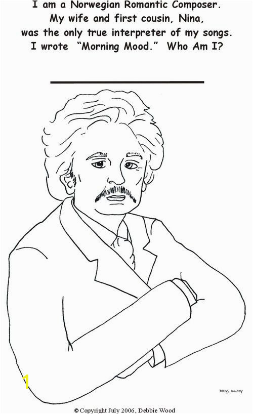 EDVARD GRIEG Coloring Page
