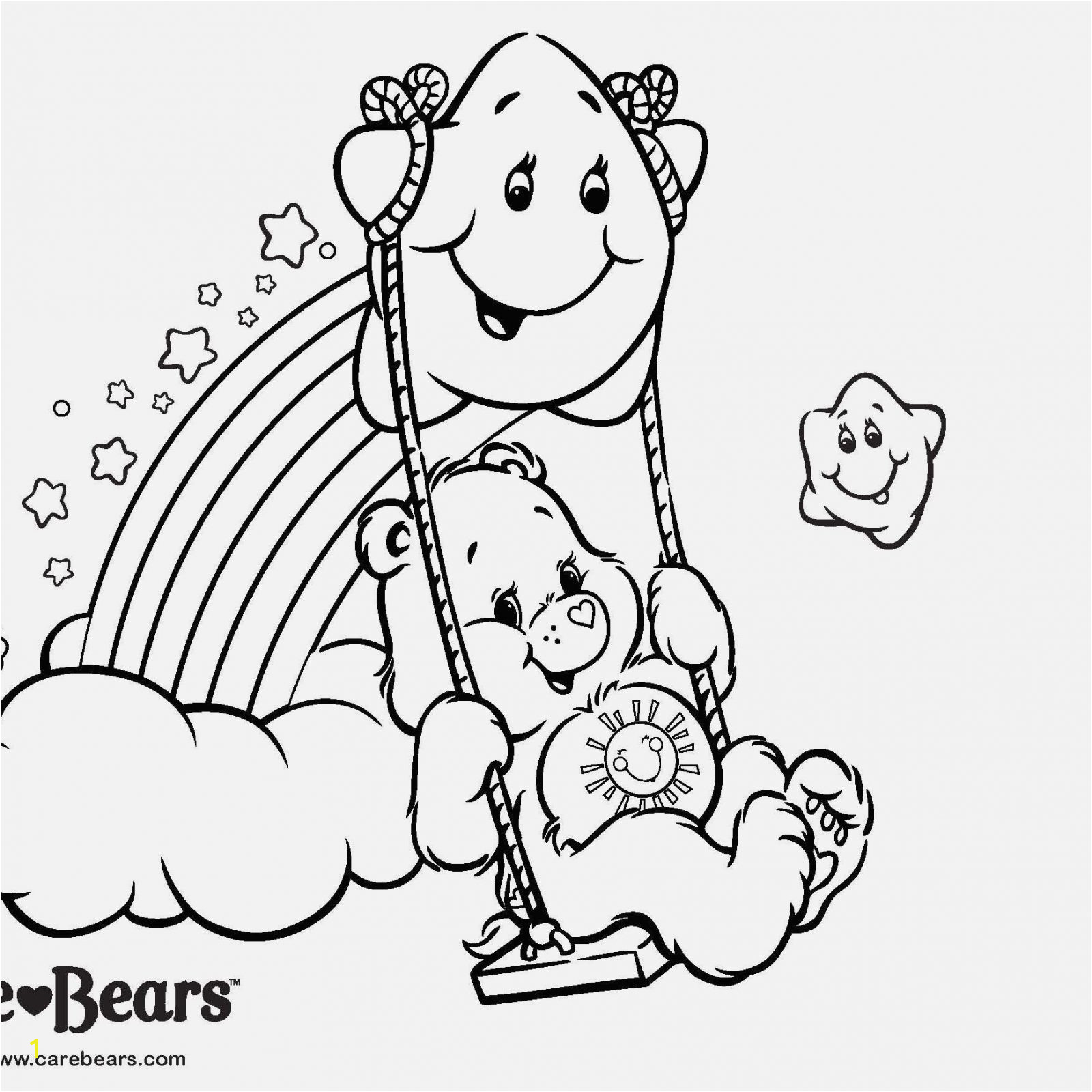 Care Bear Coloring Pages Coloring & Activity Care Bears Coloring …