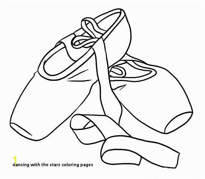 Dancing with the Stars Coloring Pages Ballet Shoes Colouring Pages Coloring Page