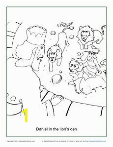 Daniel in the Lion s Den Coloring Page