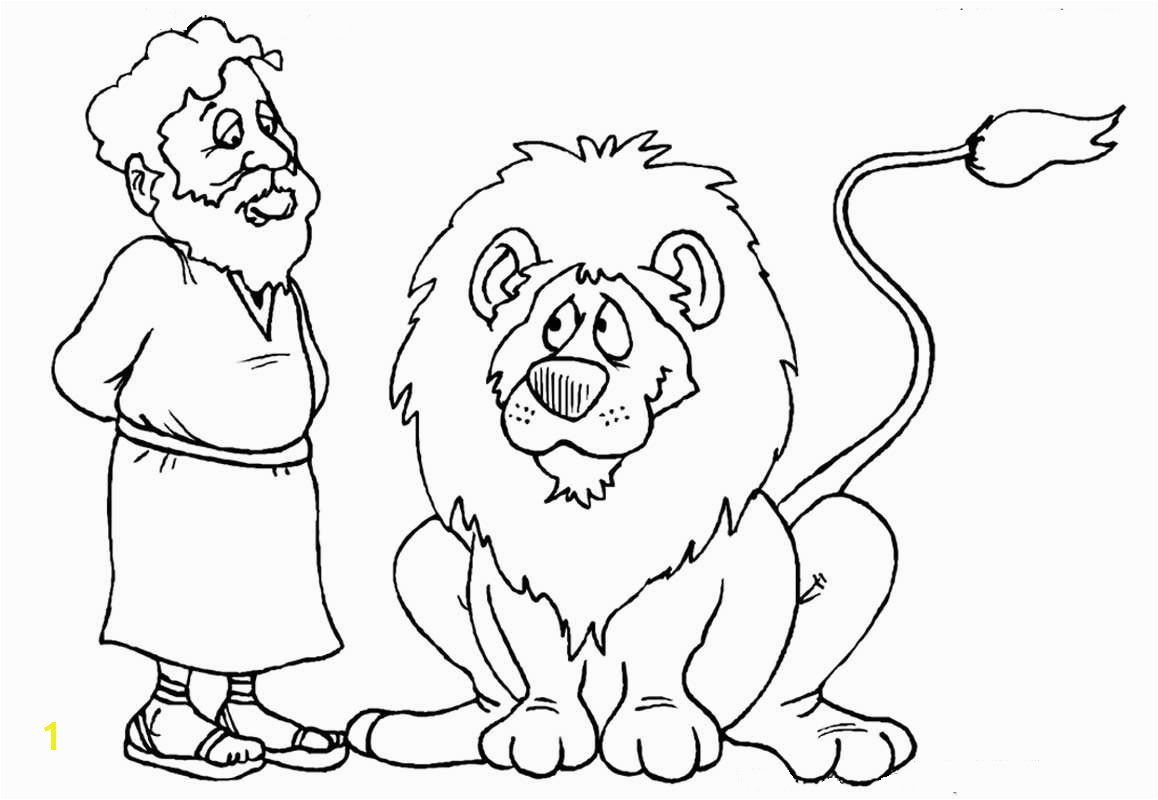 Lion Coloring Pages Daniel And The Lions Lion s Den Printables Dimples