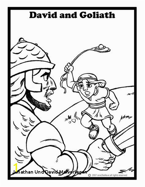 David And Goliath Coloring Page Eskayalitim