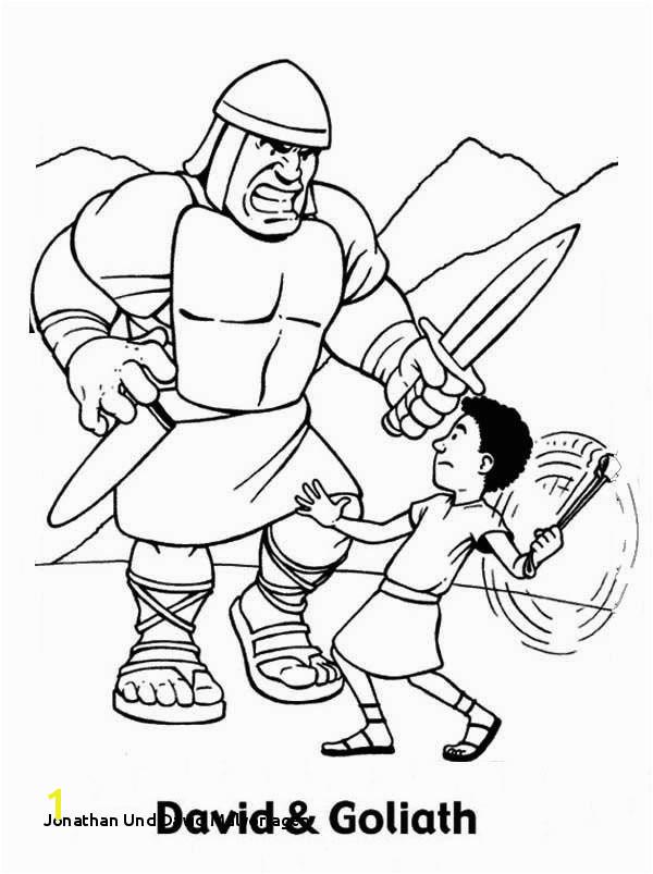 Jonathan Und David Malvorlagen David and Goliath Coloring Page Eskayalitim