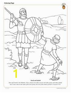 David and Goliath coloring page David Und Goliath David And Goliath Craft Bible Coloring