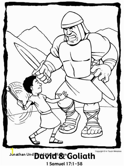 David and Goliath Coloring Pages Printable 20 Jonathan Und David Malvorlagen