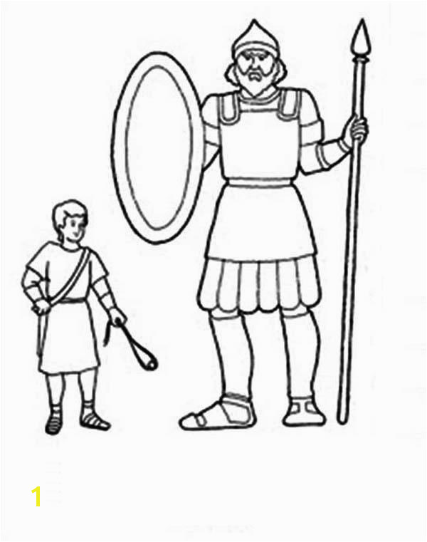 coloring sheets for david and goliath 1 Coloring Pages David And Goliath