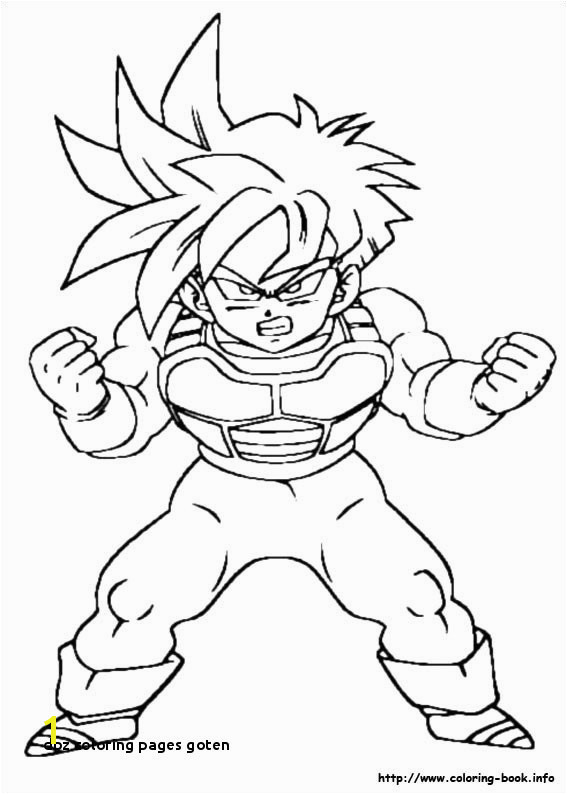 Dbz Coloring Pages Goten 13 Luxury Dragon Ball Coloring Pages