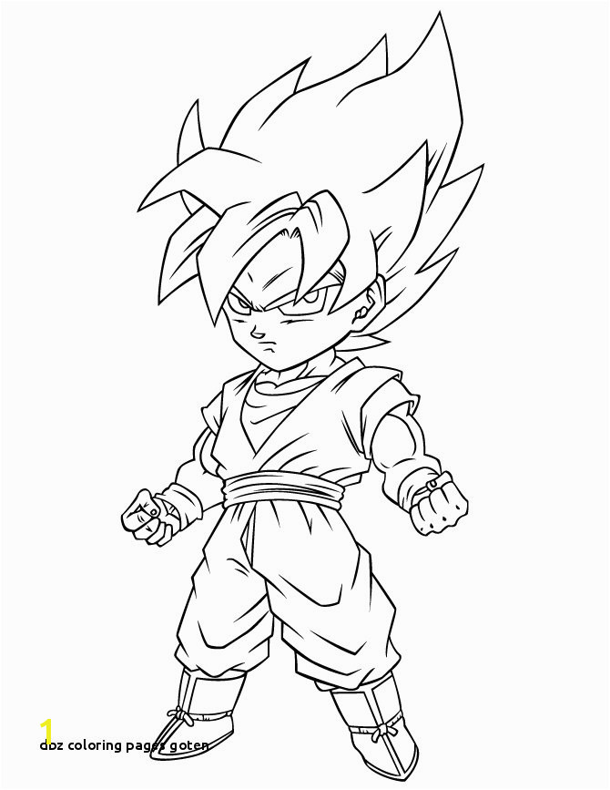Dbz Coloring Pages Goten Dragon Ball Coloring Pages Best Coloring Pages for Kids