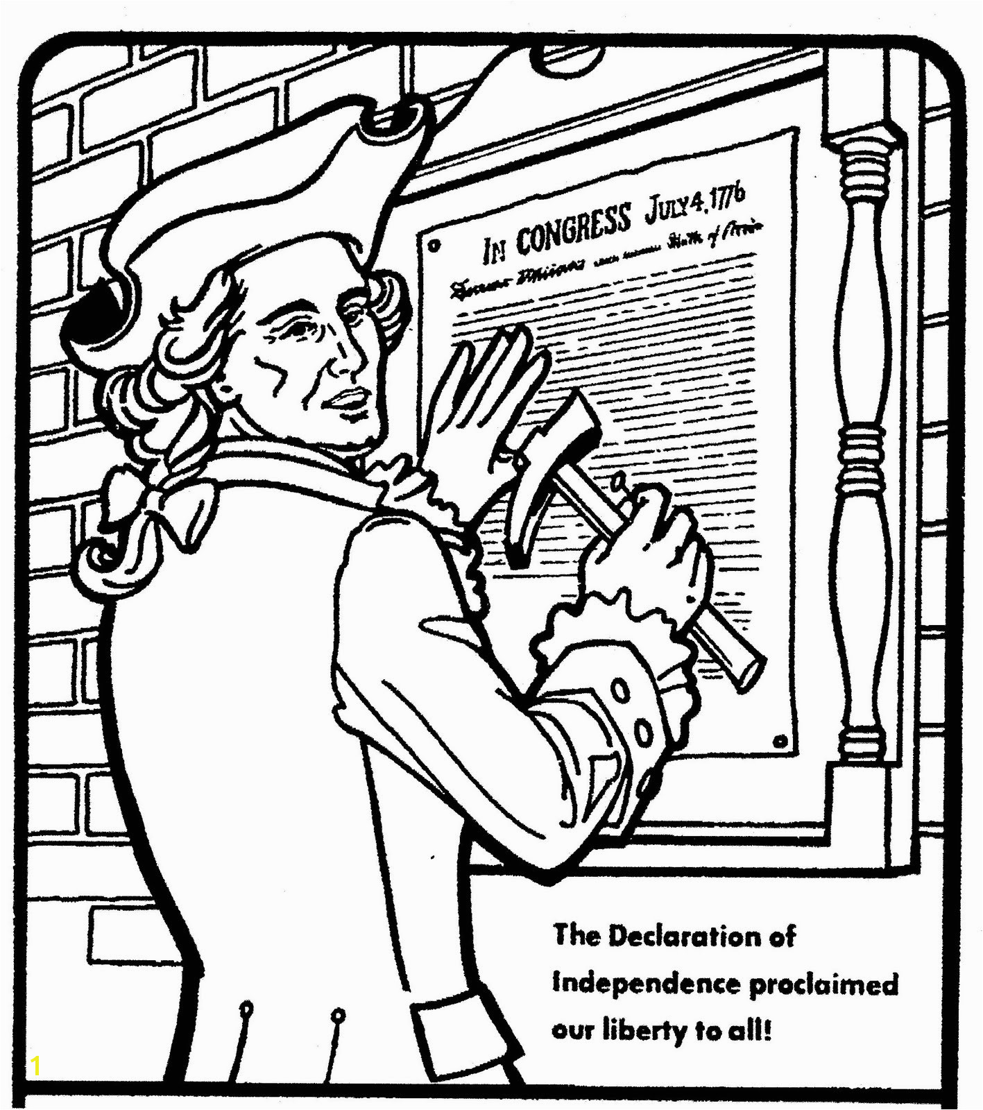 1417x1600 Declaration Independence Coloring Pages Printable Coloring