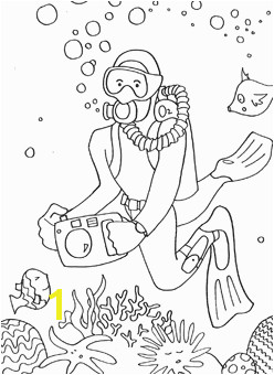 Deep Sea Diver Coloring Page Under the Sea Coloring Pages Mr Printables