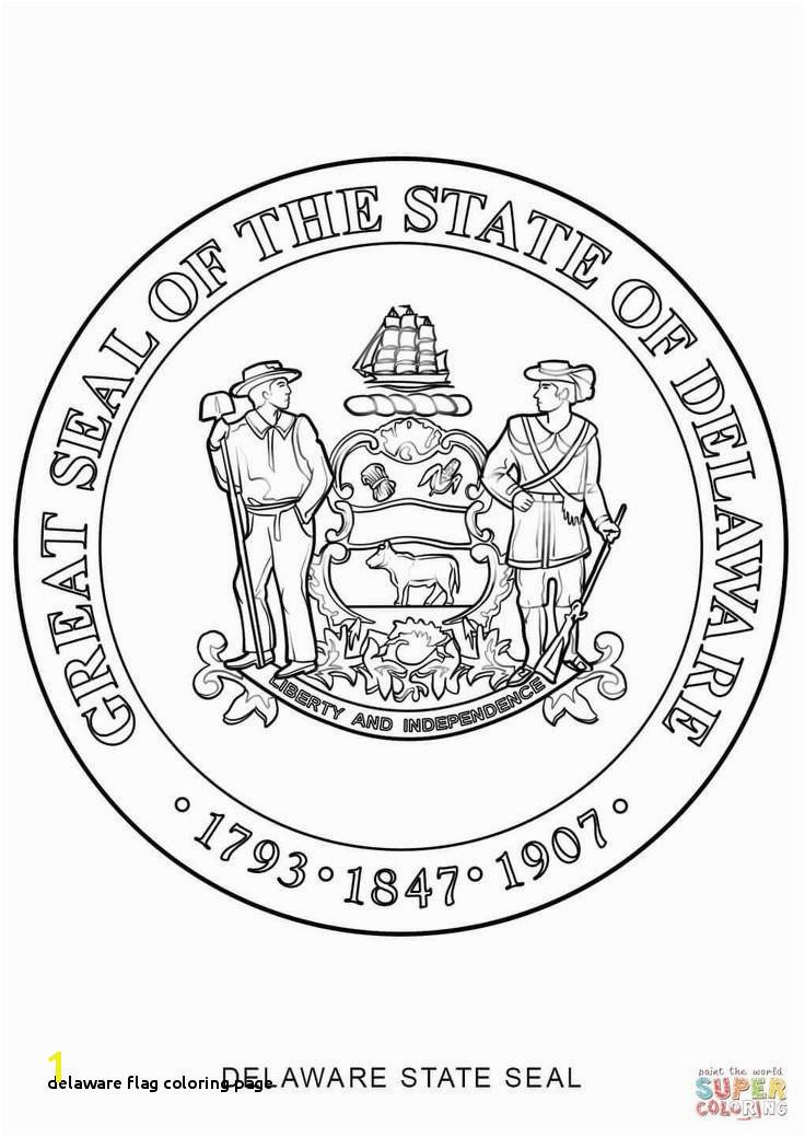 Delaware Flag Coloring Page Delaware Flag Coloring Page Best Delaware State Symbols Coloring
