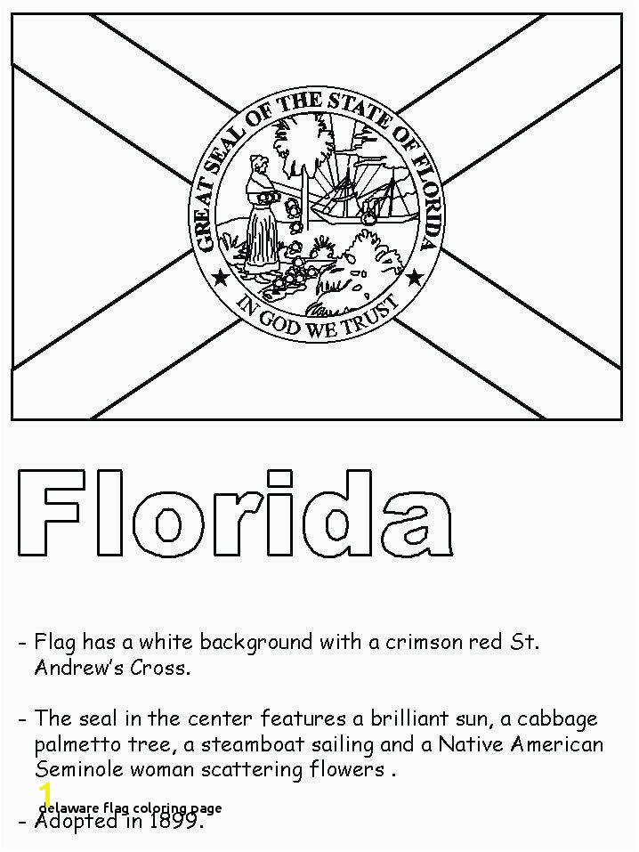 28 Delaware Flag Coloring Page