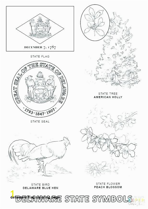 Delaware State Flag Coloring Page Delaware Flag Coloring Page Delaware Flag Coloring Page Best