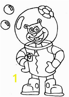Sandy Friend Spongebob Coloring Page