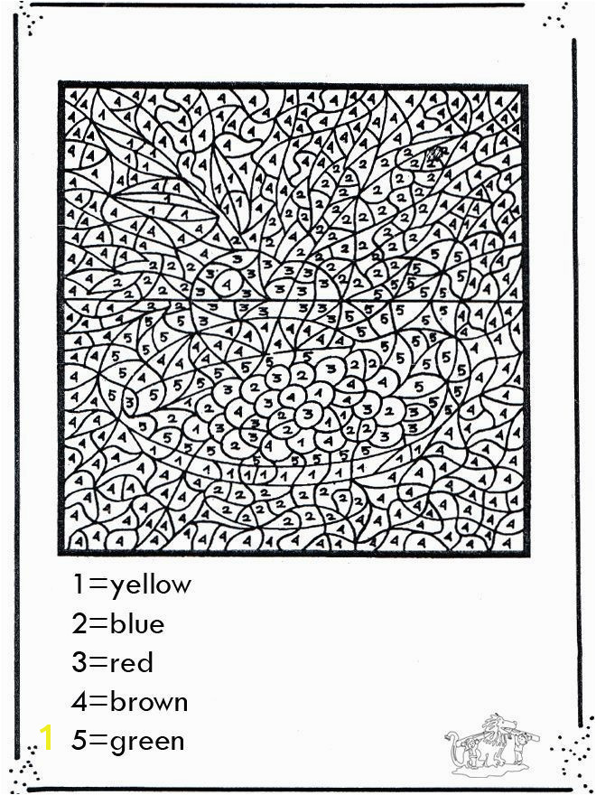 Difficult Color by Number Coloring Pages Difficult Color by Number Printables