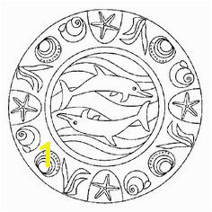 Dolphin Animal Mandala Coloring Pages one of the most popular coloring page in Mandala category Explore more coloring pages like Dolphin Animal Mandala