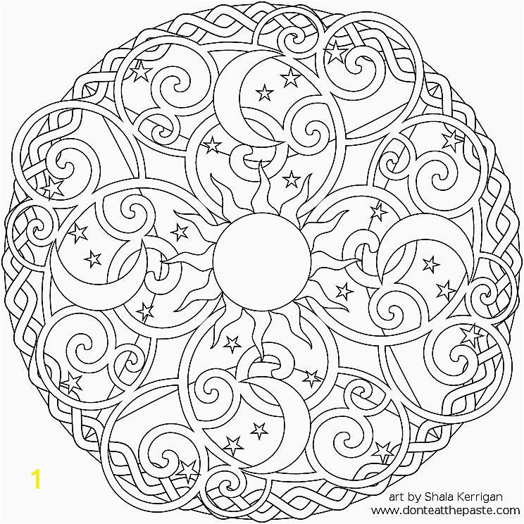 Image Free Printable Difficult Mandala Coloring Pages for Adults