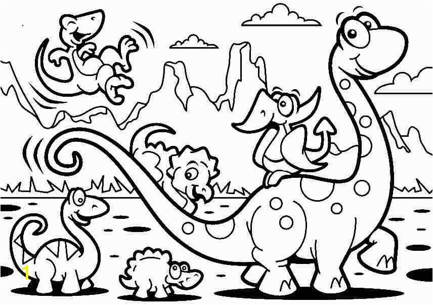 Free Coloring Sheets Animal Cartoon Dinosaurs For Kids & Boys
