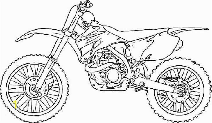 Dirt Bike Coloring Pages Luxury Dirt Bike Drawing Step by Step at Getdrawings Dirt Bike