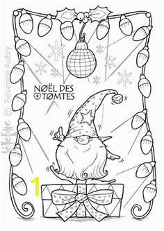 Tomte cute gnome disco dancing lights mirror ball Coloring page Christmas Drawing