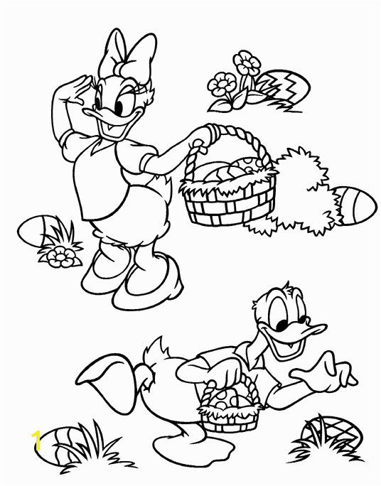 Disney Easter Coloring Pages to Print Lets Coloring Book Donald Duck