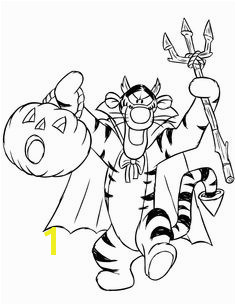 awesome Halloween Tiger Coloring Page Winnie The Pooh Halloween Bear Halloween Halloween Candy