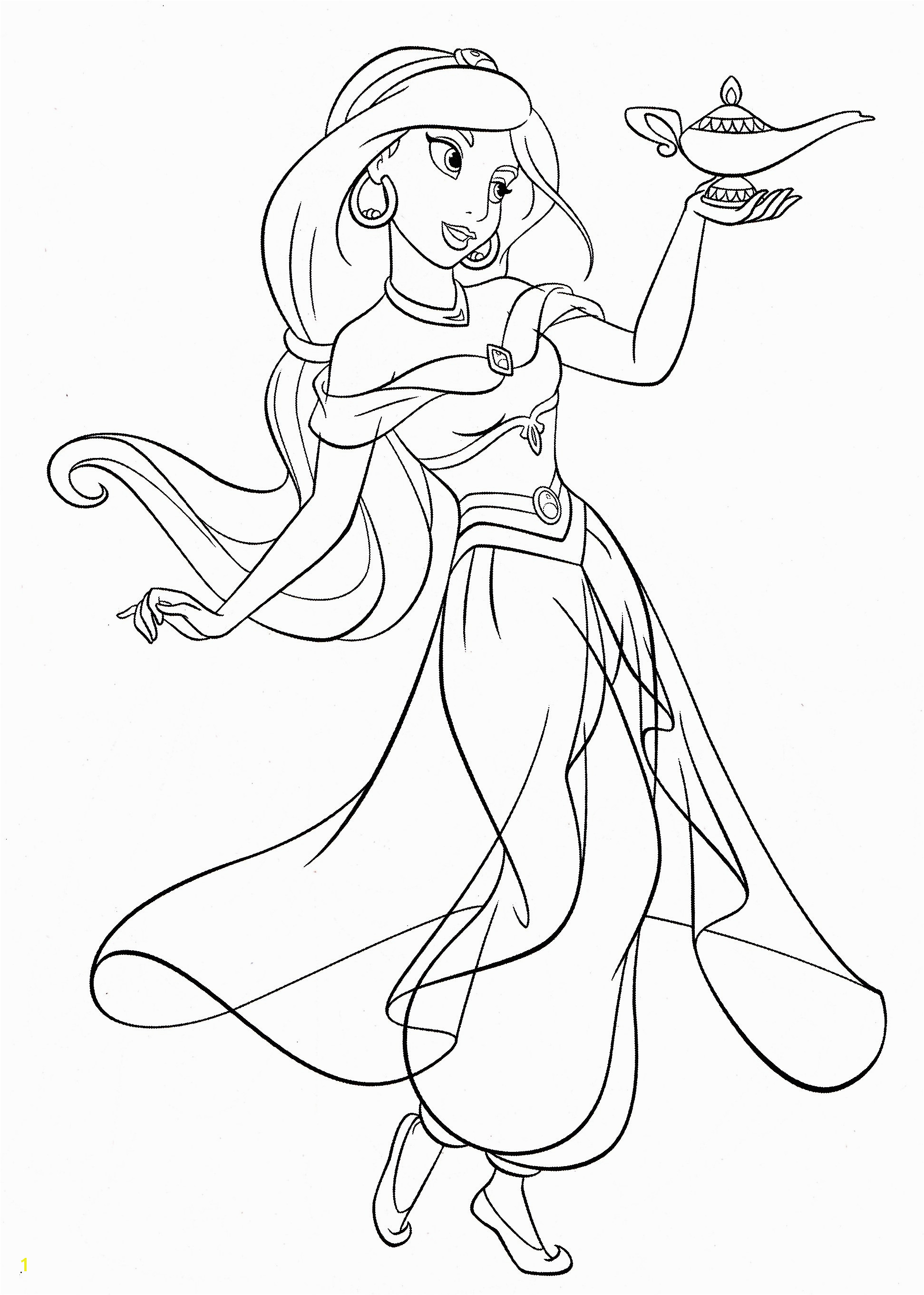 Disney Printing Coloring Pages Best Princess Jasmine Coloring Frisch Disney Princess Ausmalbilder