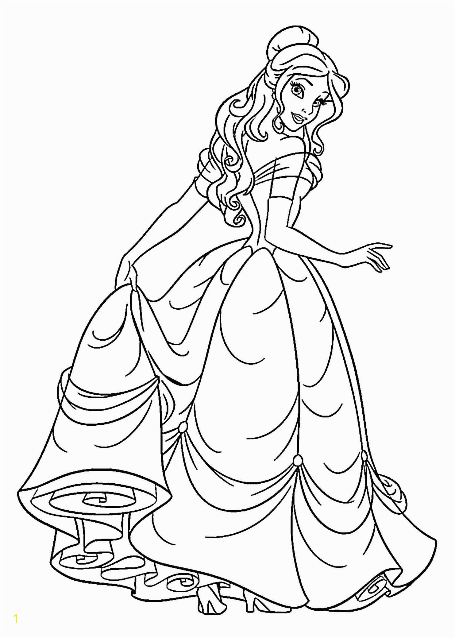 Free Disney Princess Coloring Pages Lovely Disney Princess Printable Coloring Pages Unique Cool Coloring Page