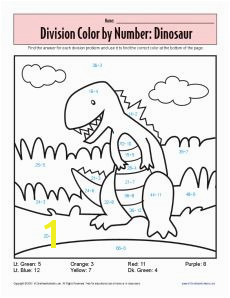 Multiplication Coloring Sheets on Color By Number Dinosaur Printable Division Worksheets