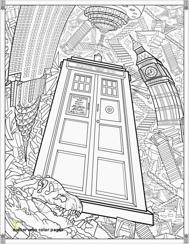 Doctor who Color Pages Lovely Free Printable Christmas Coloring Pages