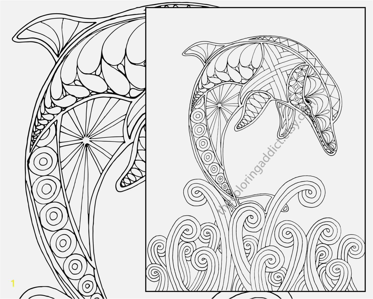 Baby Animal Coloring Pages Best Easy Dolphin Coloring Page Adult Coloring Sheet Nautical