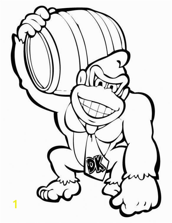 King Kong Coloring Pages Awesome Donkey Kong Holding A Barrel Coloring Page Concept King Kong