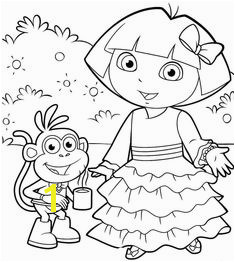 Dora The Explorer Ask Something Dora Pics Halloween Coloring Pages Easy Drawings Free