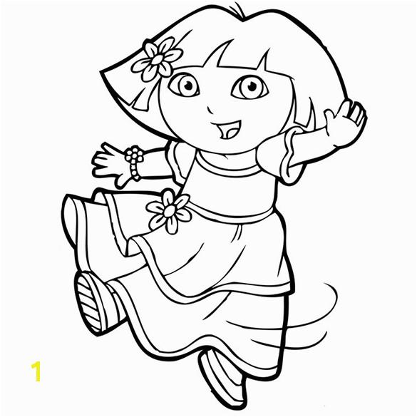 Pleasing Coloring Pages Dora the Explorer Pdf