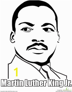 Printable Martin Luther King Jr coloring page