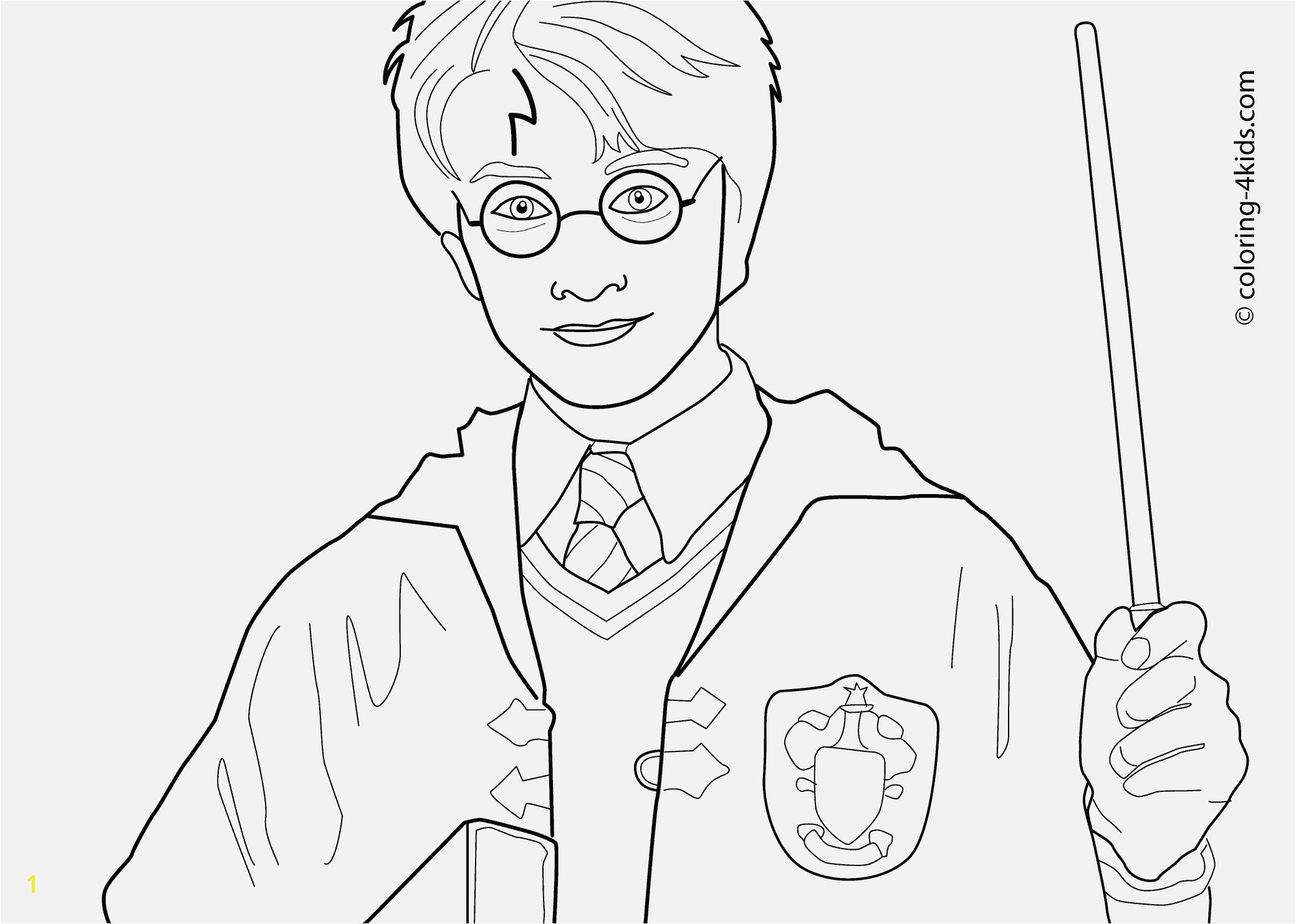 Harry Potter coloring pages for kids printable free coloring books