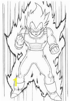Dragon Ball Z Ve a Coloring Pages Sketch Coloring Page