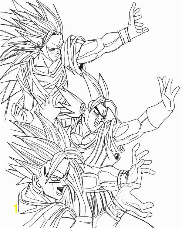 Stages of Goku Dragon Ball Z Coloring Pages