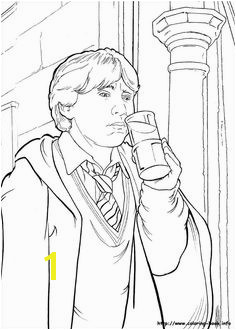 Harry Potter and the Chamber of Secrets 1998 Coloring Page Harry Potter